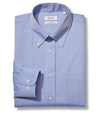 Enro Newton Pinpoint Oxford Button Down Collar Non-Iron Dress Shirt In Lt.Blue Big & Tall