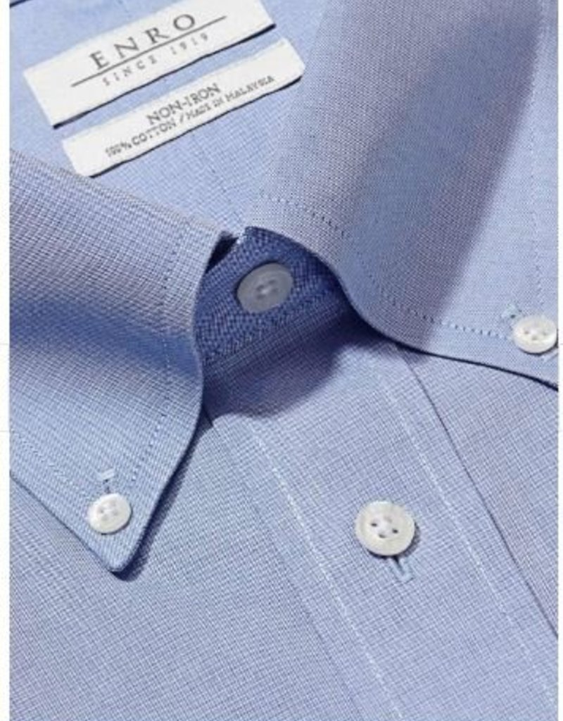 Enro Newton Pinpoint Oxford Button Down Collar Non-Iron Dress Shirt In Lt.Blue Big & Tall