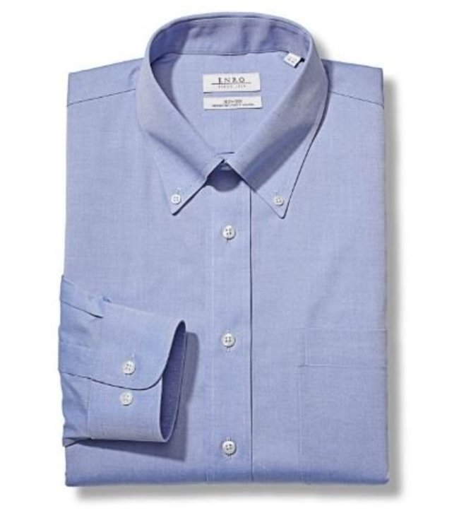 Enro Newton Pinpoint Oxford Button Down Collar Non-Iron Dress Shirt In Lt.Blue