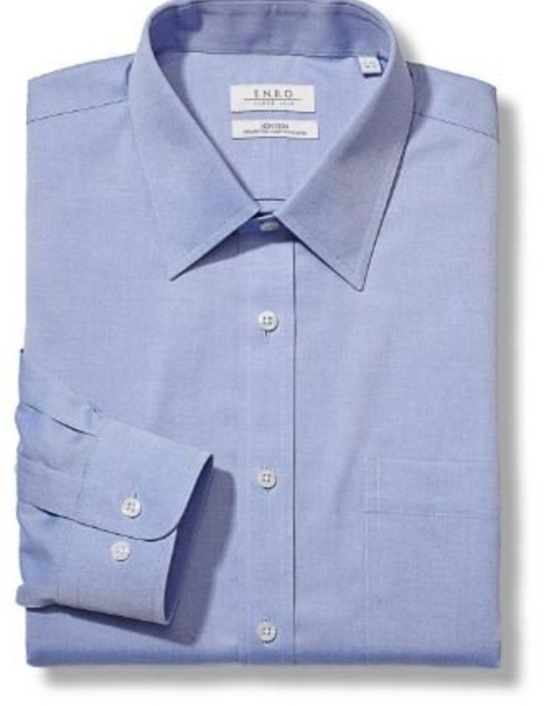 Enro Newton Pinpoint Oxford Point Collar Non-Iron Dress Shirt In Lt.Blue Big & Tall