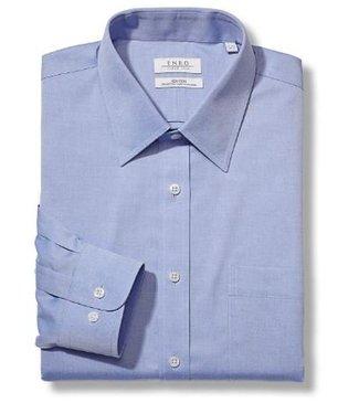 Enro Newton Pinpoint Oxford Point Collar Non-Iron Dress Shirt In Lt.Blue