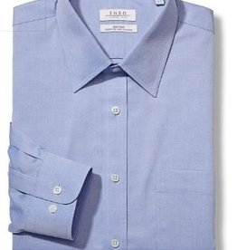 Enro Tailored Fit-Pinpoint Oxford Spread Collar Non-Iron Dress Shirt In Lt Blue