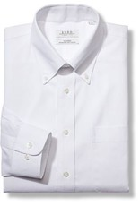 Enro Big&Tall-Newton Pinpoint Oxford Button Down Collar Non-Iron Dress Shirt In White