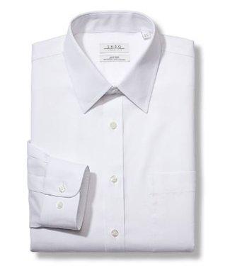 Enro Big&Tall-Newton Pinpoint Oxford Point Collar Non-Iron Dress Shirt In White