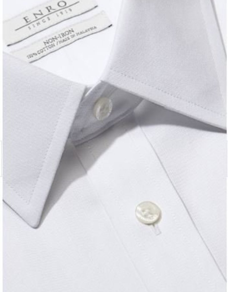 Enro Big&Tall-Newton Pinpoint Oxford Point Collar Non-Iron Dress Shirt In White