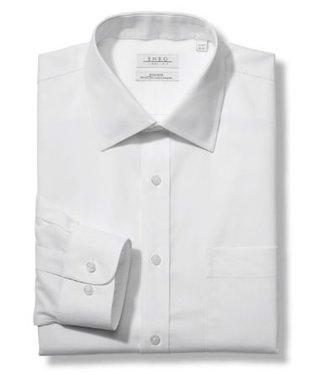 Enro Tailored Fit-Newton Pinpoint Oxford Spread Collar Non-Iron Dress Shirt In White