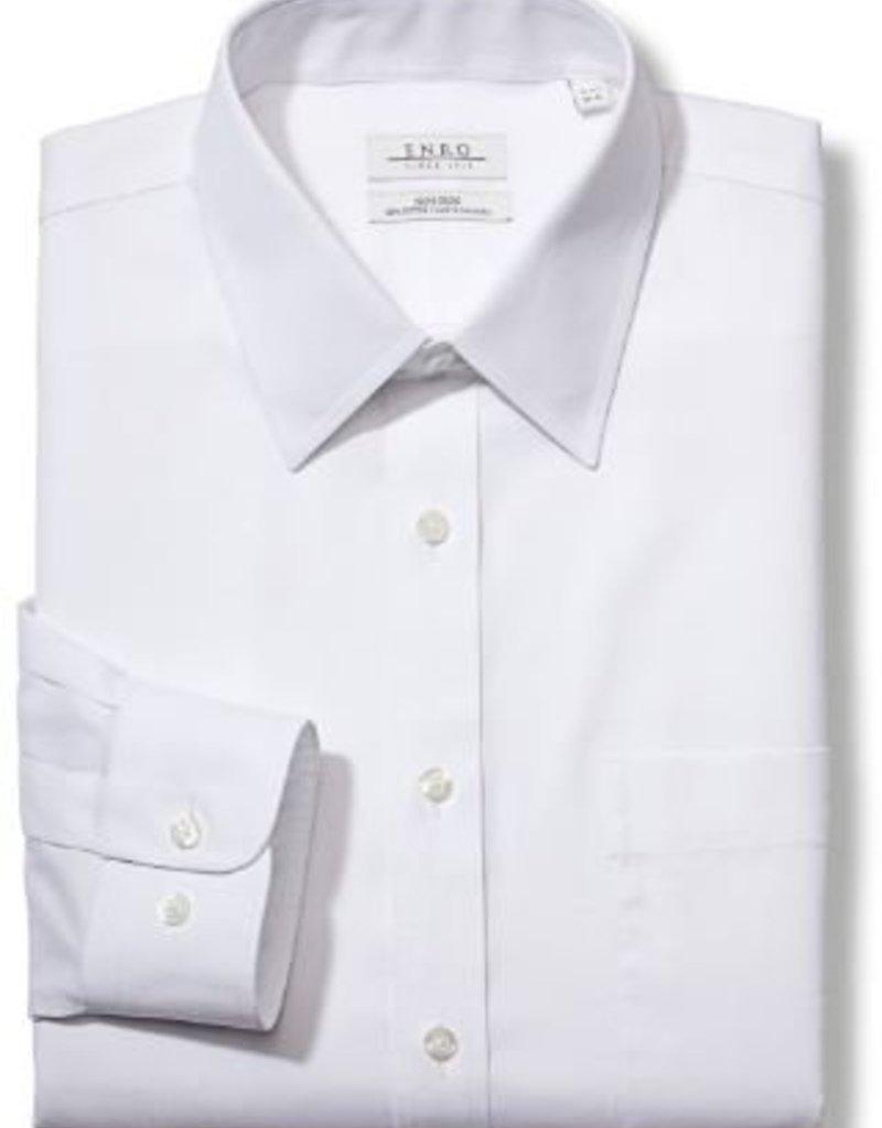 Enro Newton Pinpoint Oxford Point Collar Non-Iron Dress Shirt In White