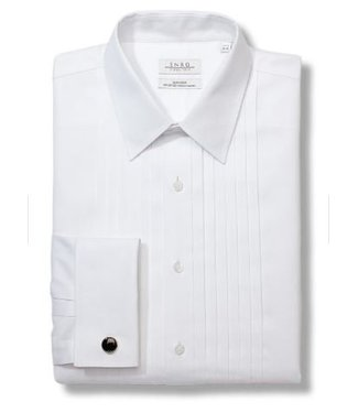 Enro Pleated Tuxedo Point Collar Non-Iron Formal Shirt With French Cuff
