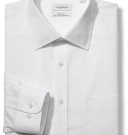Enro Newton Pinpoint Oxford Spread Collar Non-Iron Dress Shirt In White