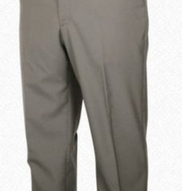 Self Sizer Flat Front Polyester Wool Blend Tropical Dress Pants in Light Olive