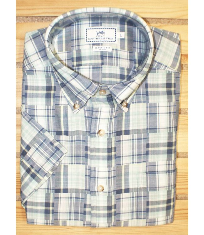 Southern Tide MAHO BAY PLAID SHORT SLEEVE SPORT SHIRT