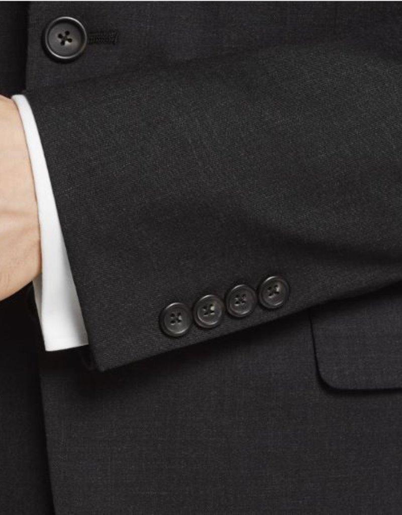 Hart Schaffner Marx Hart Schaffner Marx - 98% Worsted Wool, 2% Lycra New York Fit Suit in Charcoal