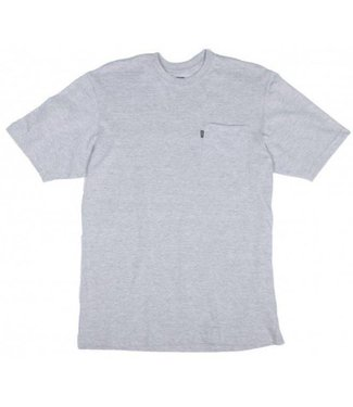Key Work Clothes KEY BLENDED TEE IN HEATHER GRAY 822.05