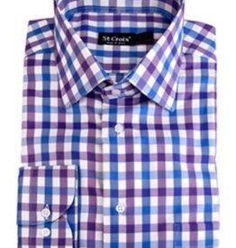 St. Croix LS Sateen check Shirt CC