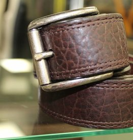Joe Sugar's Joe Sugar's Genuine American Bison Leather Brown Belt Model 9207 in Reg Sizes