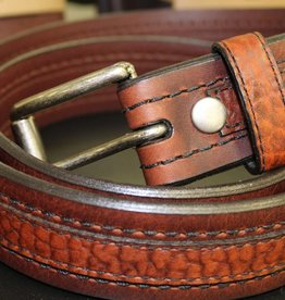 Joe Sugar's Joe Sugar's Genuine American Bison Leather Brown Belt Model 9206 in Big & Tall Sizes