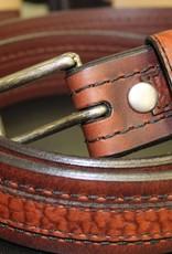 Joe Sugar's Joe Sugar's Genuine American Bison Leather Brown Belt Model 9206 in Reg Sizes
