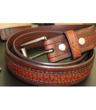 Joe Sugar's Joe Sugar's Genuine American Bison Leather Brown Belt Model 9206 in Reg Sizes