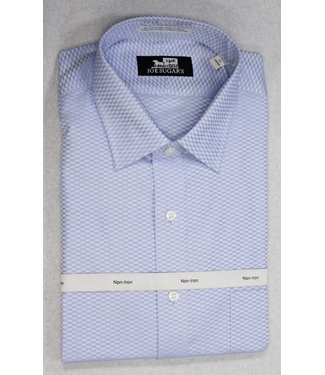 Joe Sugar's 2-PLY NON-Iron Tone on Tone with Spread Collar in Blue Long Sleeve Shirt