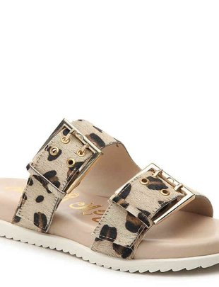"Naughty Monkey ""HEY PONY"" LEOPARD SANDAL"