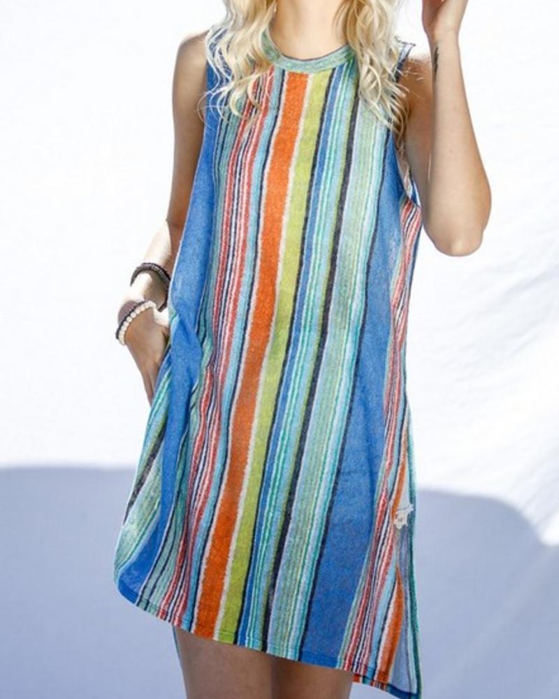 Mint Mix Sleeveless Knit Top -