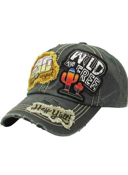 Wild & Free Ball Cap -
