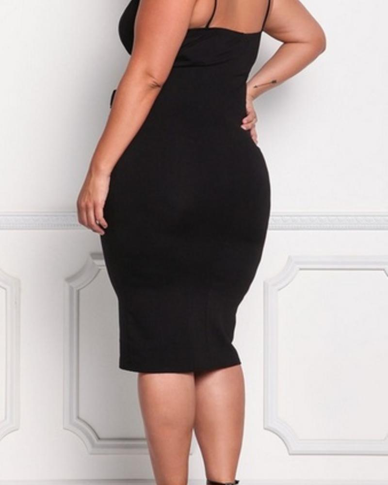 Full Figured Strappy Tummy Control Dress -