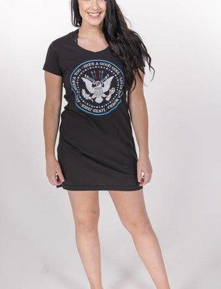 She's A Good Girl V-Neck T-Shirt Dress -