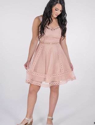 Blush Eyelet Dress -