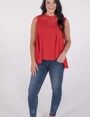 Free People Meant to Be Tee/Red -