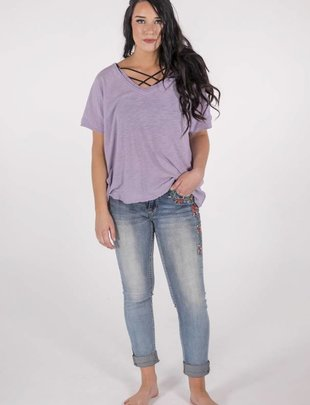 Free People Take Me Tee/Blue Pearl -