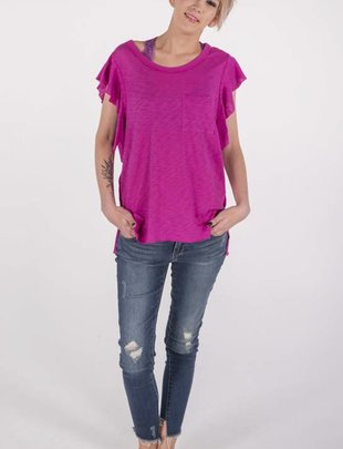 "Free People So Easy Tee ""Raspberry""  -"
