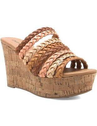 Natural Tones Strappy Wedge -