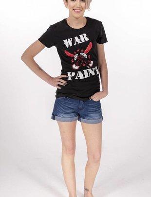 "Pinky Star- ""War Paint"" v-neck tee -"