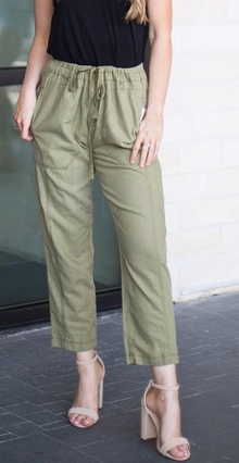 Free People Free People - PAINT PALMER UTILITY PANT (MOSS)