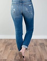 Full Figured Distressed Skinny W/Leopard Patch-