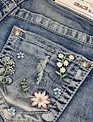 Grace in L.A. Grace in L.A. Denim - Daisy Embroidered Short