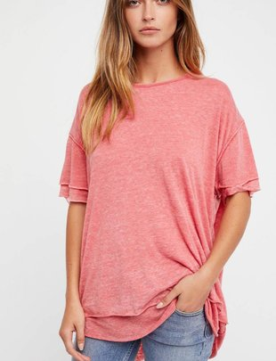 Free People Cloud 9 Tee/Red -