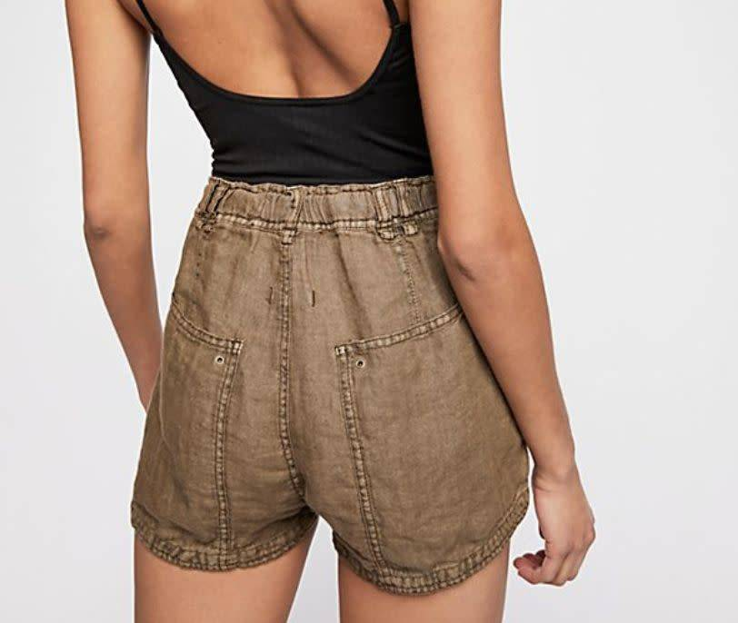 Free People Beacon Utility Short in Moss -