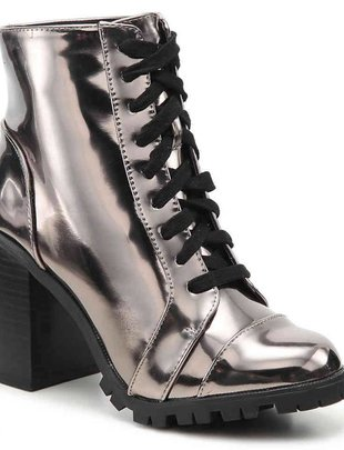 Pewter Metallic Bootie