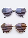4th of July Heart Sunnies -