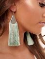 Mint Filigree Drop Fringe Earrings -
