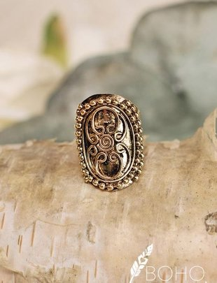 Antique Gold Filigree Ring
