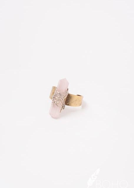 Boho Love Blush Stone Ring