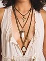 Boho Love White Stone Multi Layer Necklace