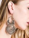 Bohemian Layered Filigree Beaded Earrings