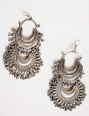 Bohemian Layered Filigree Beaded Earrings