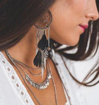 Boho Love Dreamcatcher & Dagger Earrings