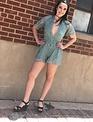 Short Sleeve Lace Romper