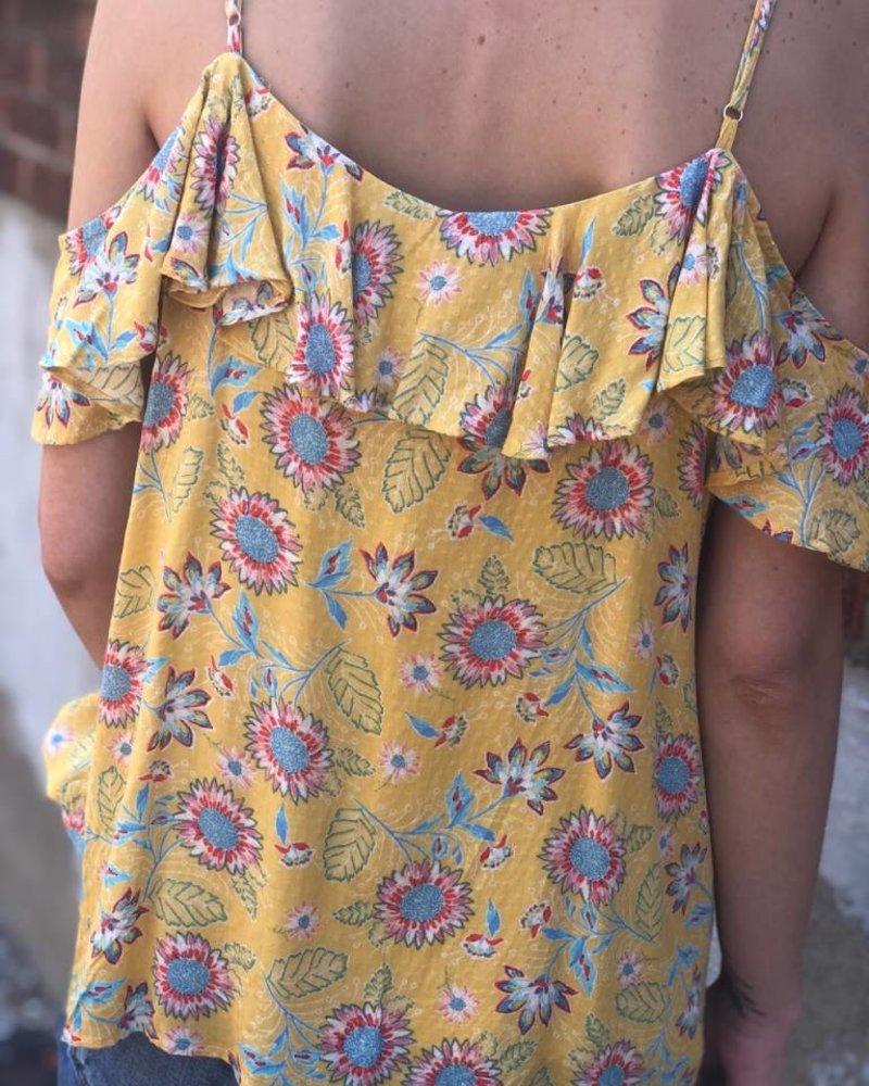 Miss Me Open Shoulder Miss Daisy Top -